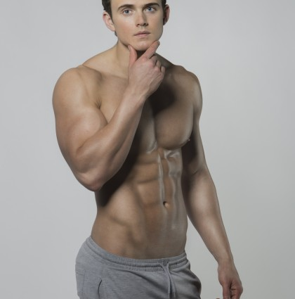 Connor, fitness competitor and underwear model