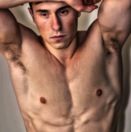 Tom V, our academic fitness model and muscle model