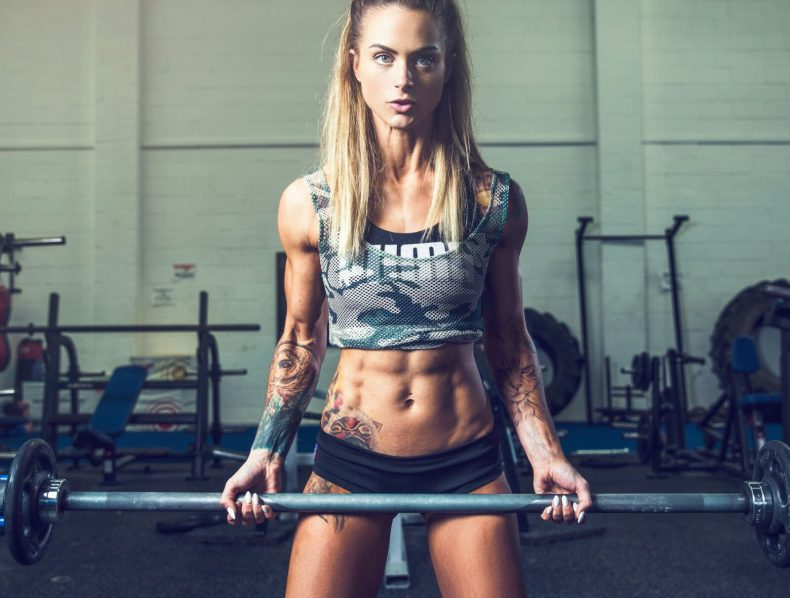 Sarah D, Ripped Models fitness model